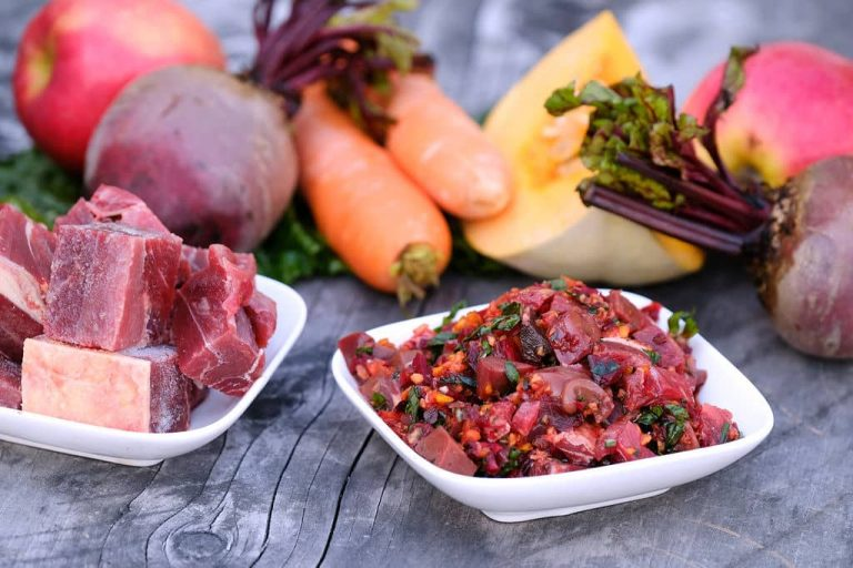 dog-food-with vegetables-herbs-sitting-on-table-nz